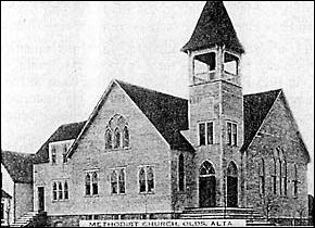 The Olds United Church was built as a Methodist Church in 1910. It was replaced in 1960.